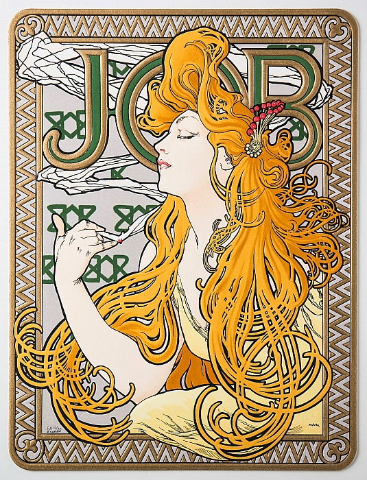 Advertising Poster for the tissue paper Job, 1897.  by Alphonse Mucha