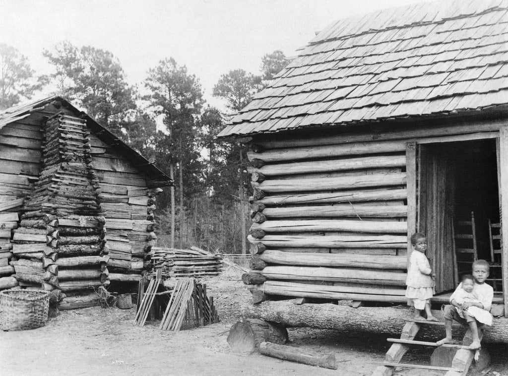 Log cabins in Thomasville, Florida, c.1900  by American Photographer