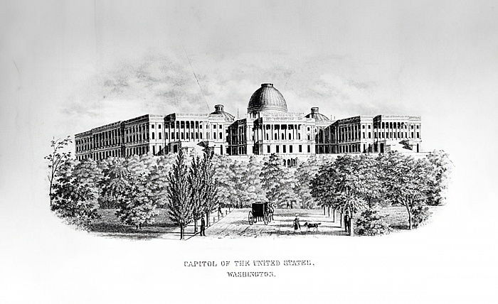 The Capitol of the United States, Washington D.C., c. 1852  by American School
