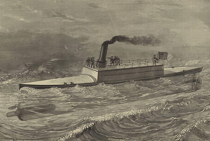 The Destroyer, torpedo-vessel of Captain Ericsson  by American School