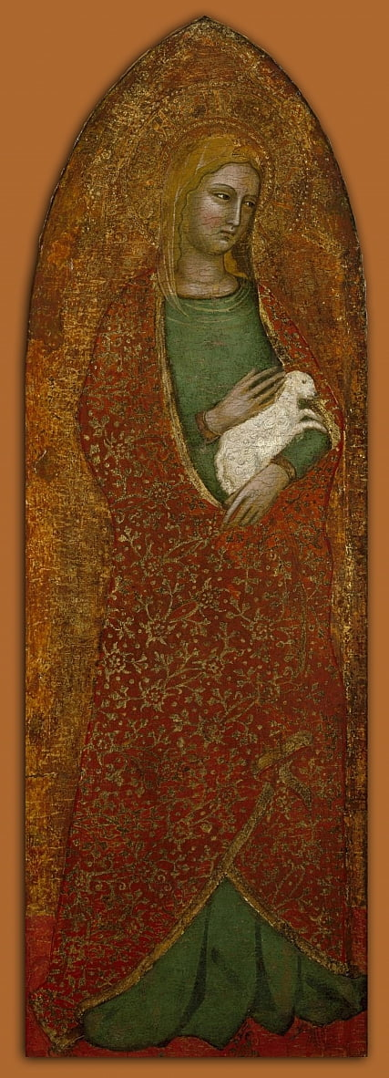 Saint Agnes by Andrea da Firenze