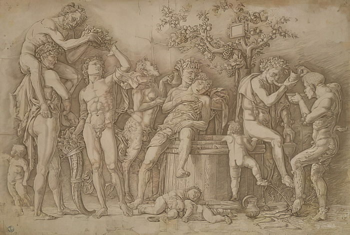 Bacchanal with the vat of wine, 1470-90  by Andrea Mantegna
