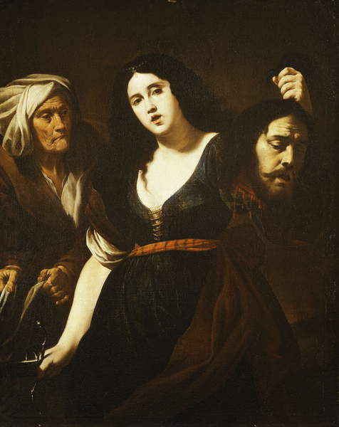 Judith holding the Head of Holofernes, Accompanied by a Maidservant, c.1625-30 by Andrea Vaccaro