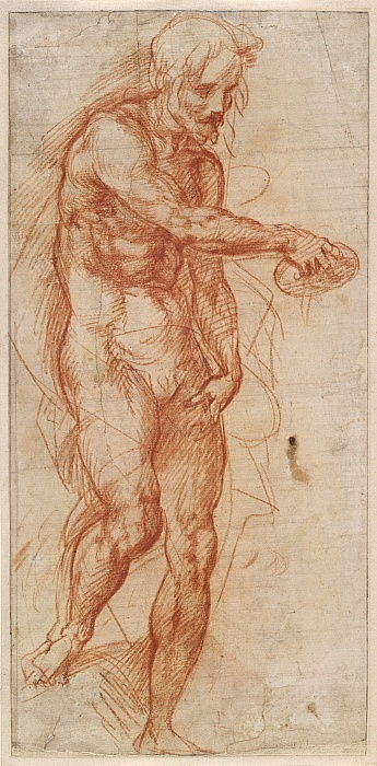 Saint John the Baptist Study, ca 1518 by Andrea del Sarto
