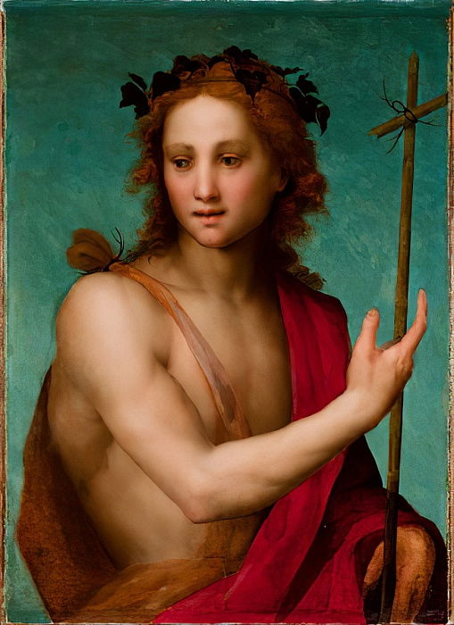 St. John the Baptist, c.1517 (oil on panel transferred to canvas) by Andrea del Sarto