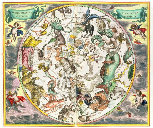 Map of the Southern Hemisphere, from