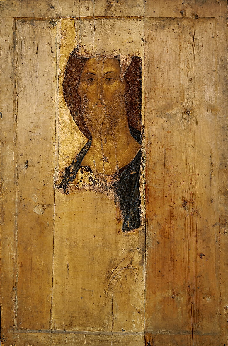 Saviour. From the Deisus Chin by Andrei Rublev
