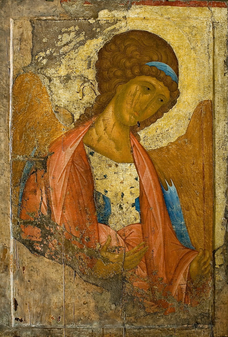 Archangel Michael. From the Deisus Chin (Row) (Zvenigorodsky) by Andrei Rublev
