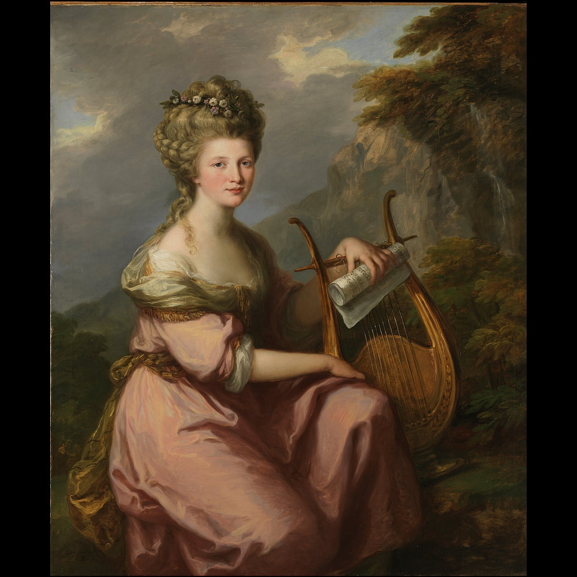 Portrait of Sarah Harrop (Mrs. Bates) as a Muse by Angelica Kauffmann