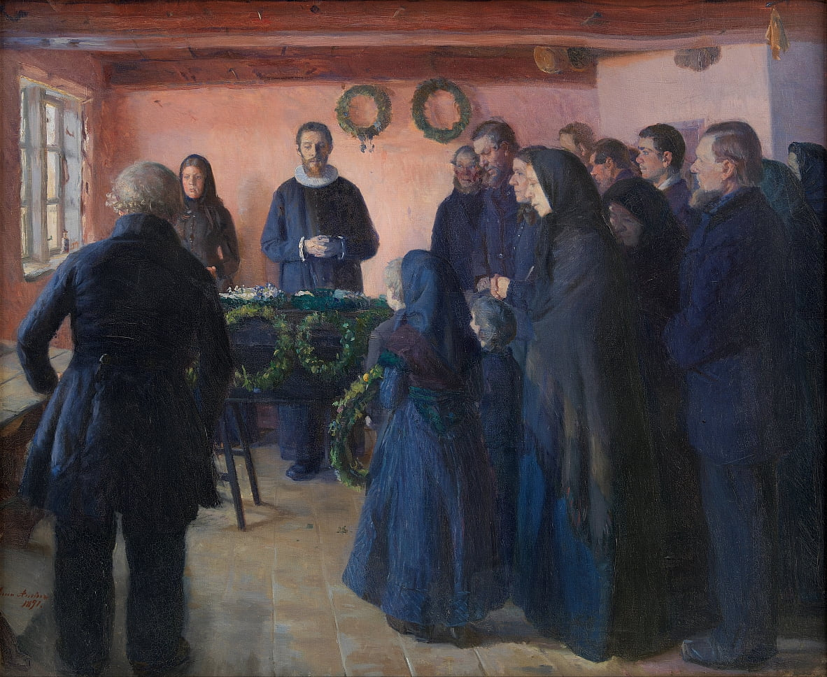A Funeral by Anna Ancher