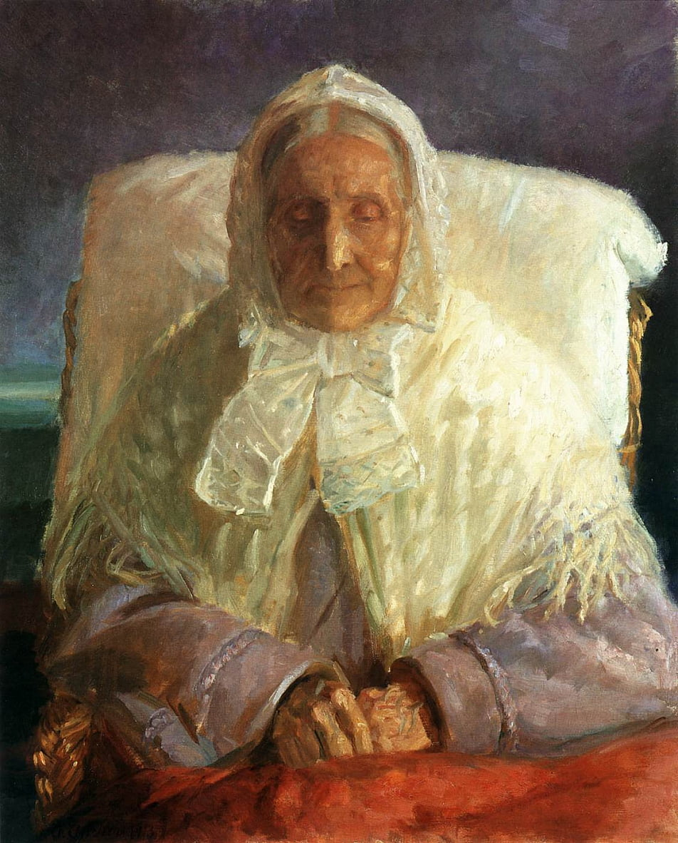 Portrait of Anna Hedwig Brndum by Anna Ancher