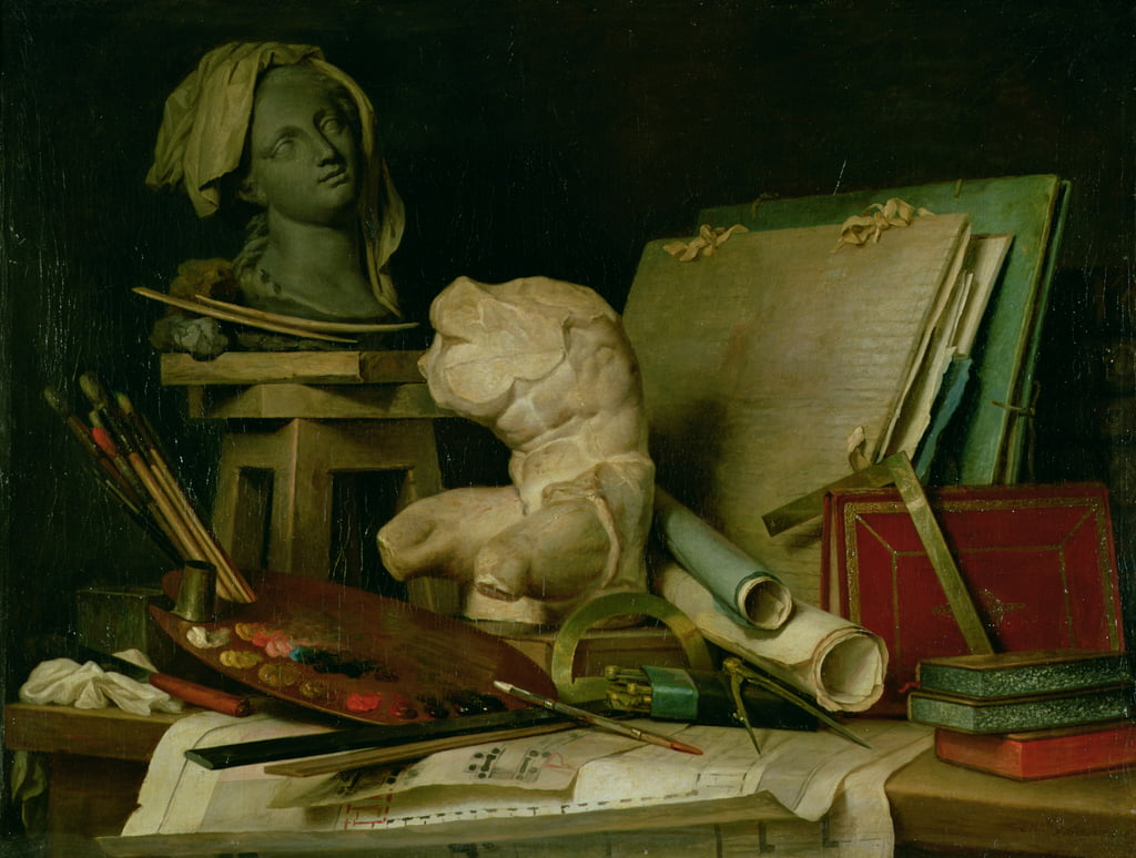The Attributes of the Arts, 1769  by Anne Vallayer Coster