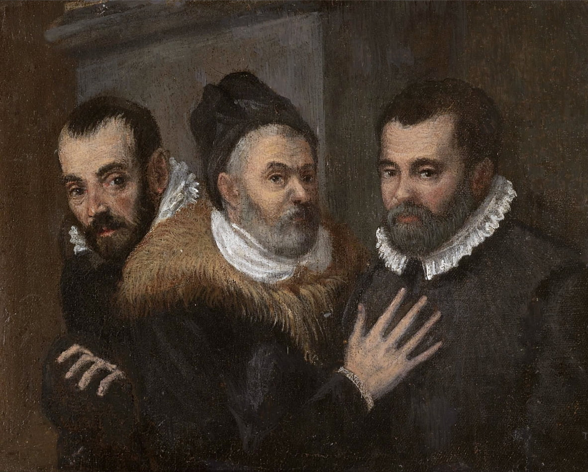 Annibale, Ludovico and Agostino Carracci by Annibale Carracci
