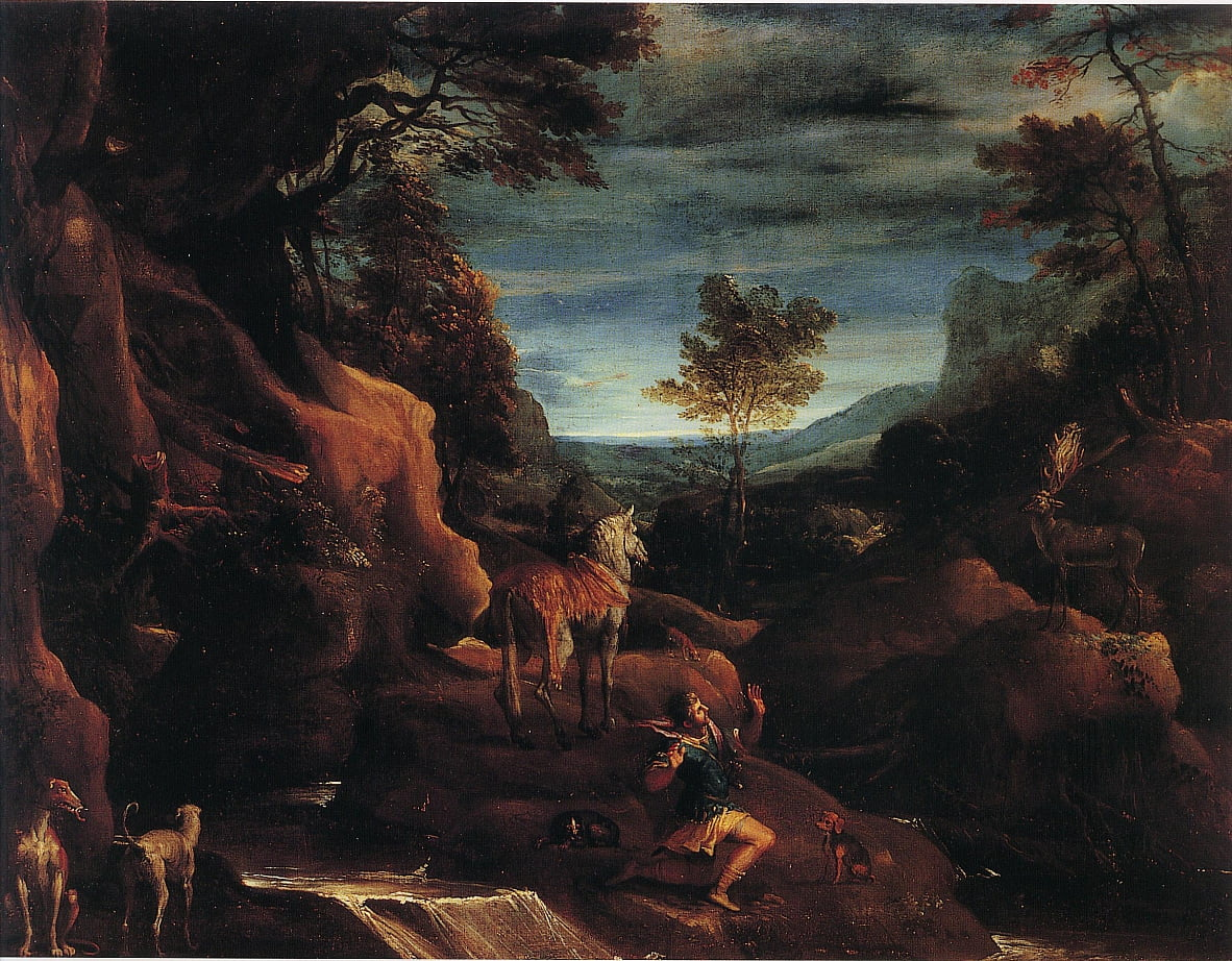 The Vision of Saint Eustace  by Annibale Carracci