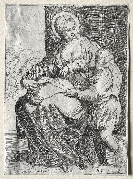 Madonna with the White Raven, 1500s.  by Annibale Carracci