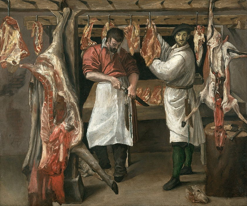 The Butchers Shop by Annibale Carracci