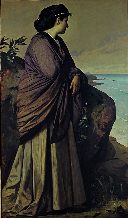 On the Seashore Modern Iphigenia, 1875 by Anselm Feuerbach