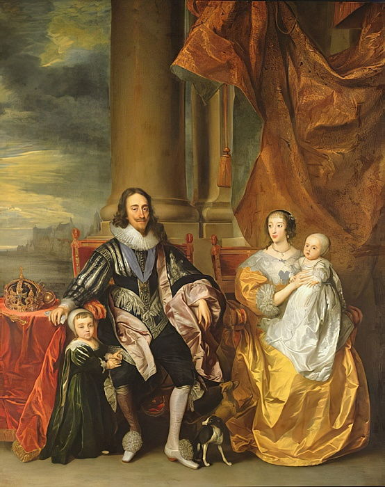 King Charles I (1600-49) and his Family  by Anthony van Dyck