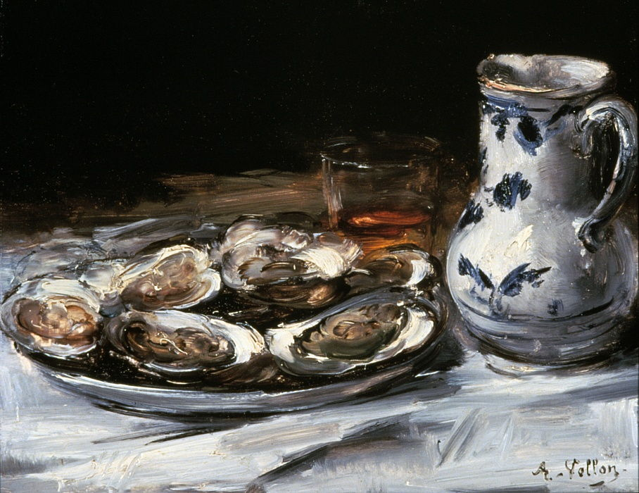 Still Life with Oysters, 19th century.   by Antoine Vollon