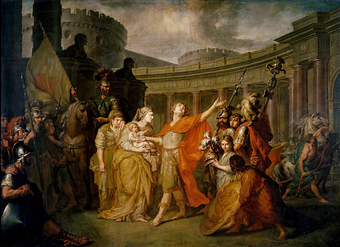 Farewell of Hector and Andromache by Anton Pavlovich Losenko