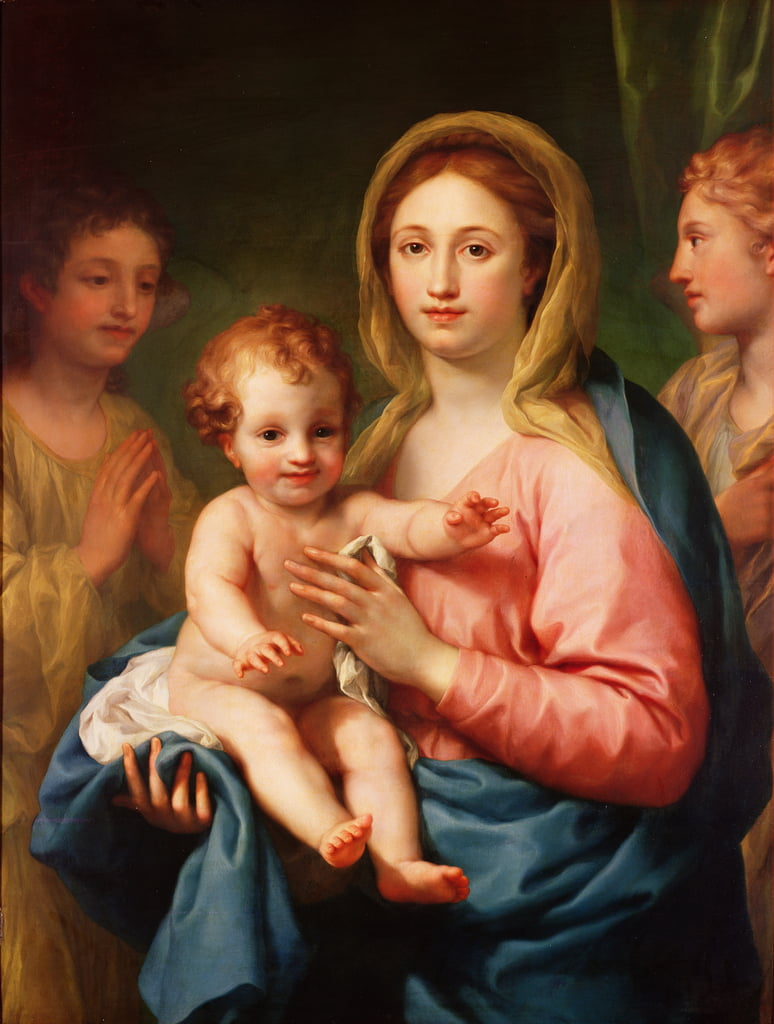 Madonna and Child with Two Angels, 1770-73  by Anton Raphael Mengs