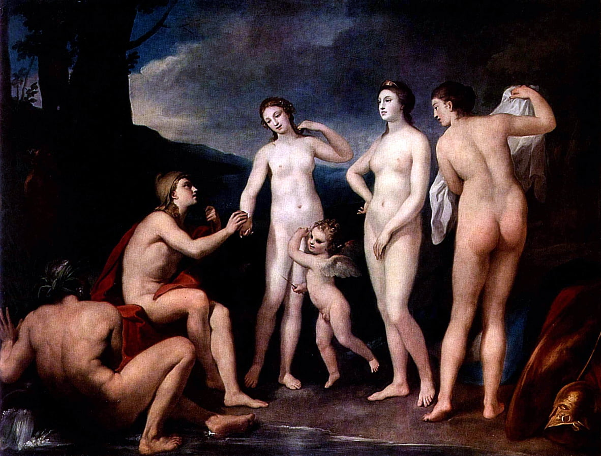 The Judgment of Paris by Anton Raphael Mengs