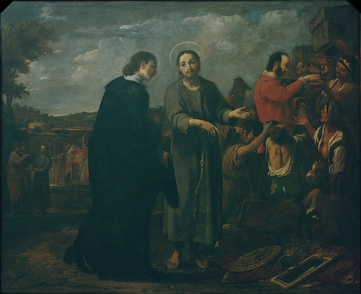 Bernat de Quintaval Distributes his Riches to the Poor by Antoni Viladomat