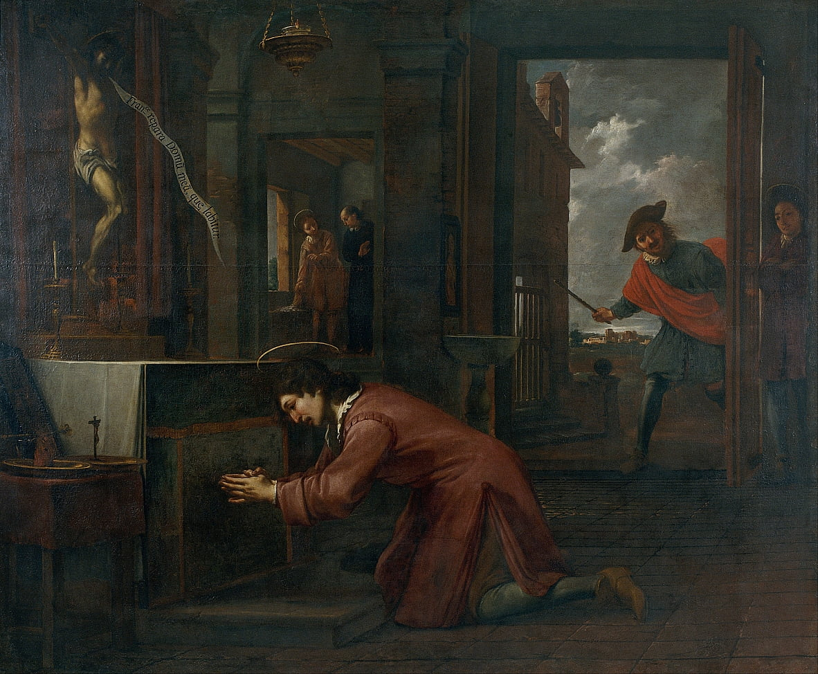 Saint Francis Receives the Order from the Crucifix at Saint Damian to Repair the House of God by Antoni Viladomat
