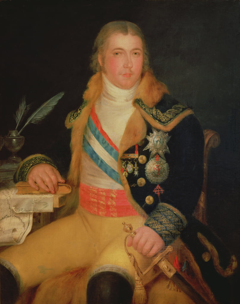 Portrait of Manuel Godoy  by Antonio Carnicero