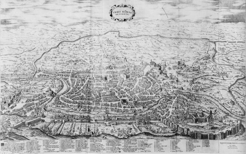 Map of Rome, from the
