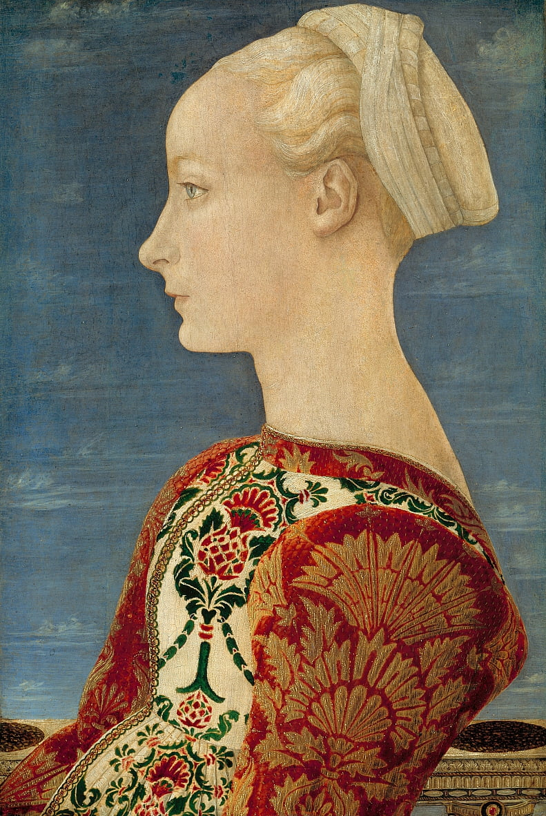 Profile Portrait of a Young Lady by Antonio Pollaiuolo