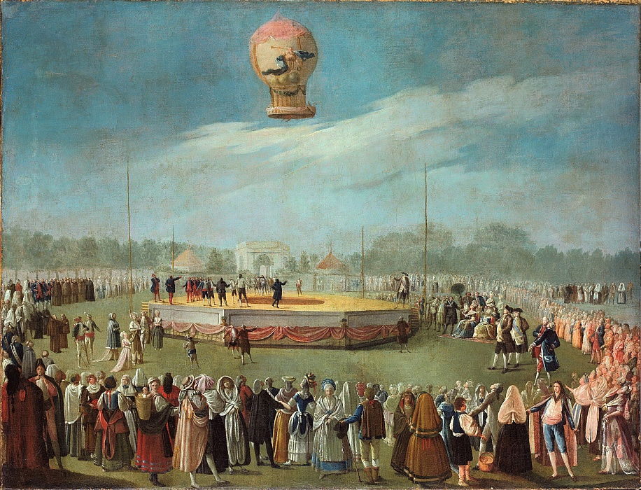 Ascent of a Balloon in the Presence of the Court of Charles IV, ca. 1783 by Antonio Carnicero