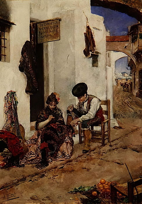 Mending the Picadors Jacket by Antonio Maria Fabres y Costa
