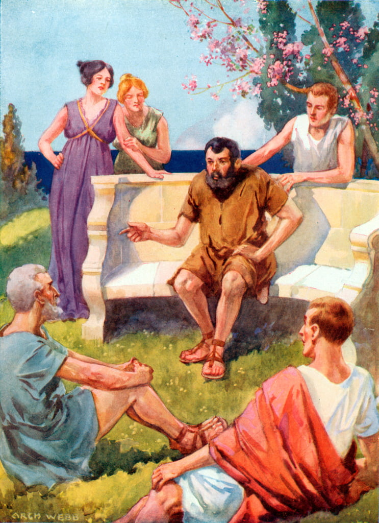 Aesop telling his stories  by Archibald Webb
