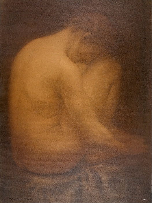 Male Nude Seated by Armand Rassenfosse