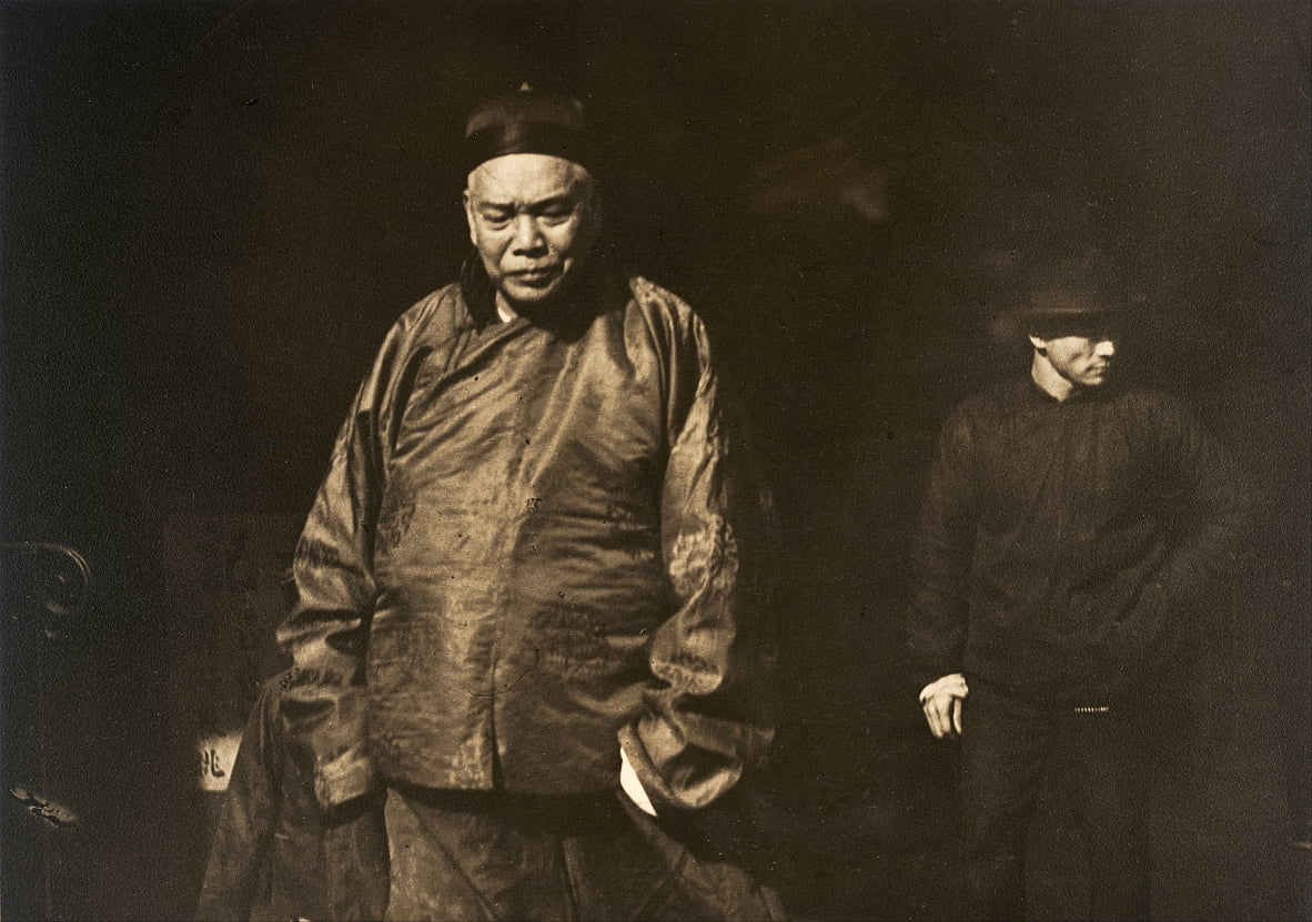 Merchant and Body Guard, Old Chinatown, San Francisco by Arnold Genthe