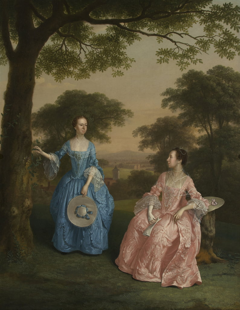 Alicia and Jane Clarke, c.1758  by Arthur Devis