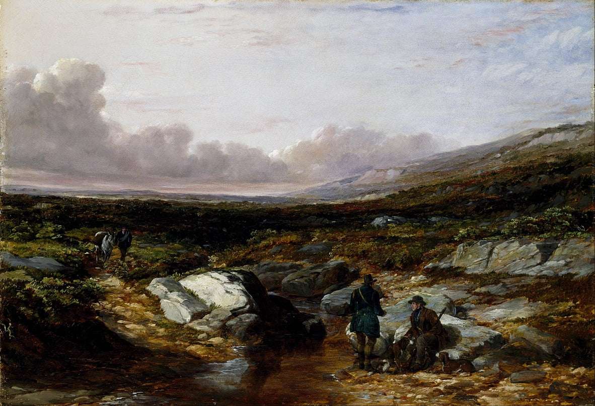Deer Stalking in Scotland- Getting Ready by Arthur Fitzwilliam Tait