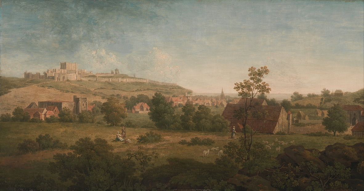 Landscape, with Dover Castle in the Distance by Arthur Nelson