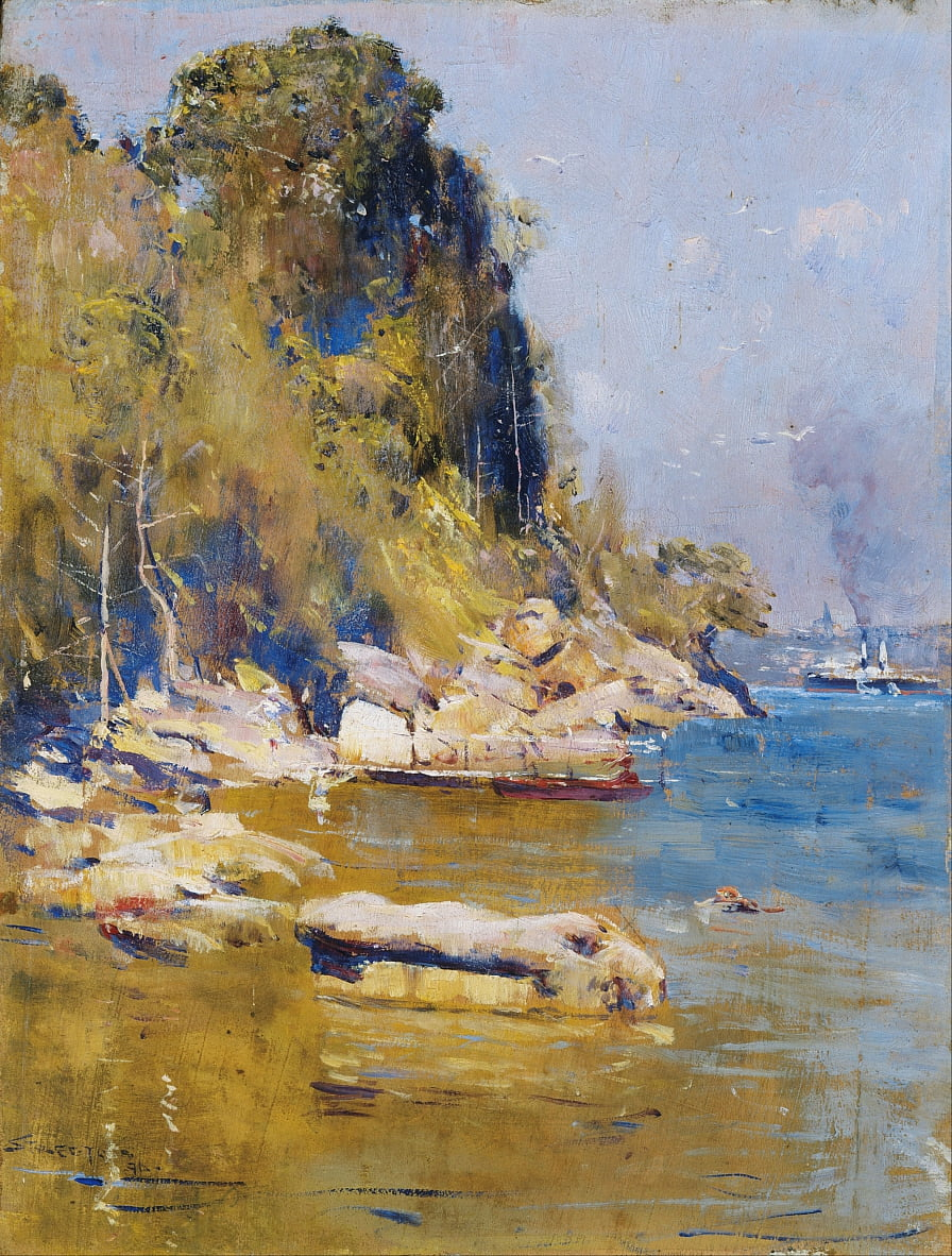 From my camp (Sirius Cove) by Arthur Streeton