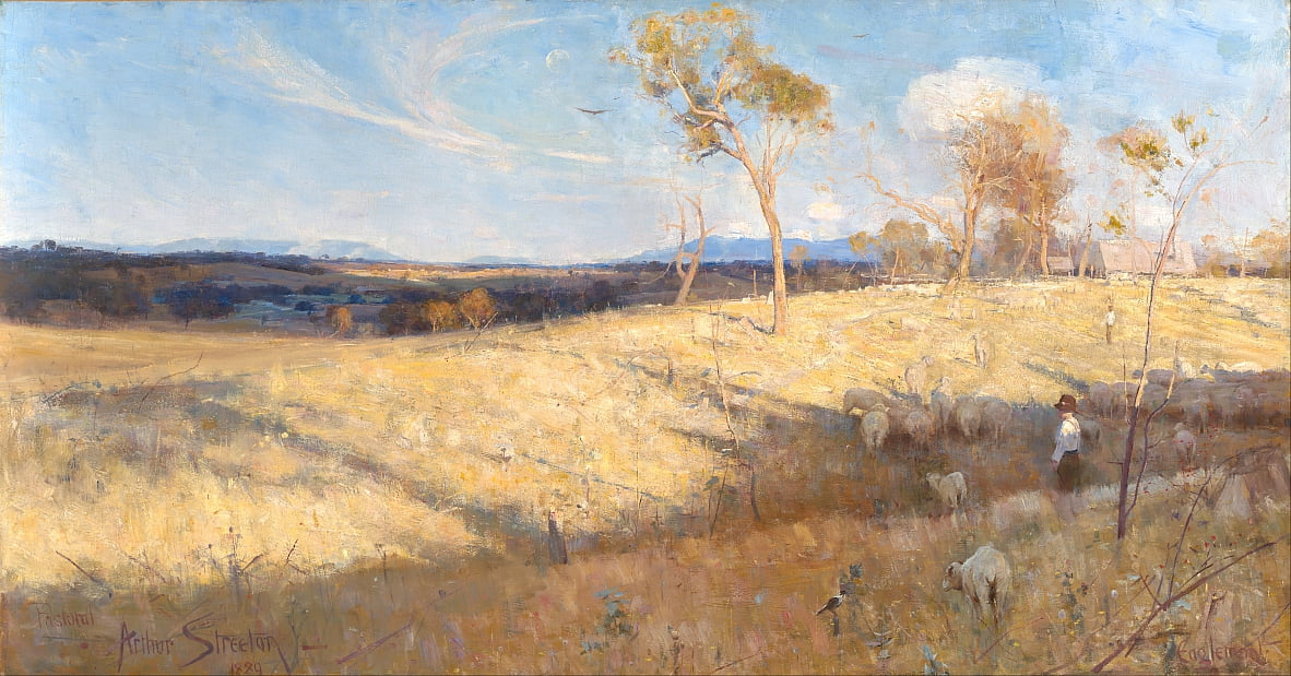 Golden summer, Eaglemont by Arthur Streeton