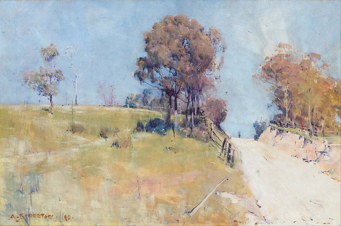 Sunlight (Cutting on a hot road) by Arthur Streeton