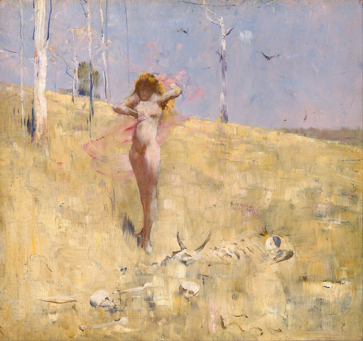 The spirit of the drought by Arthur Streeton