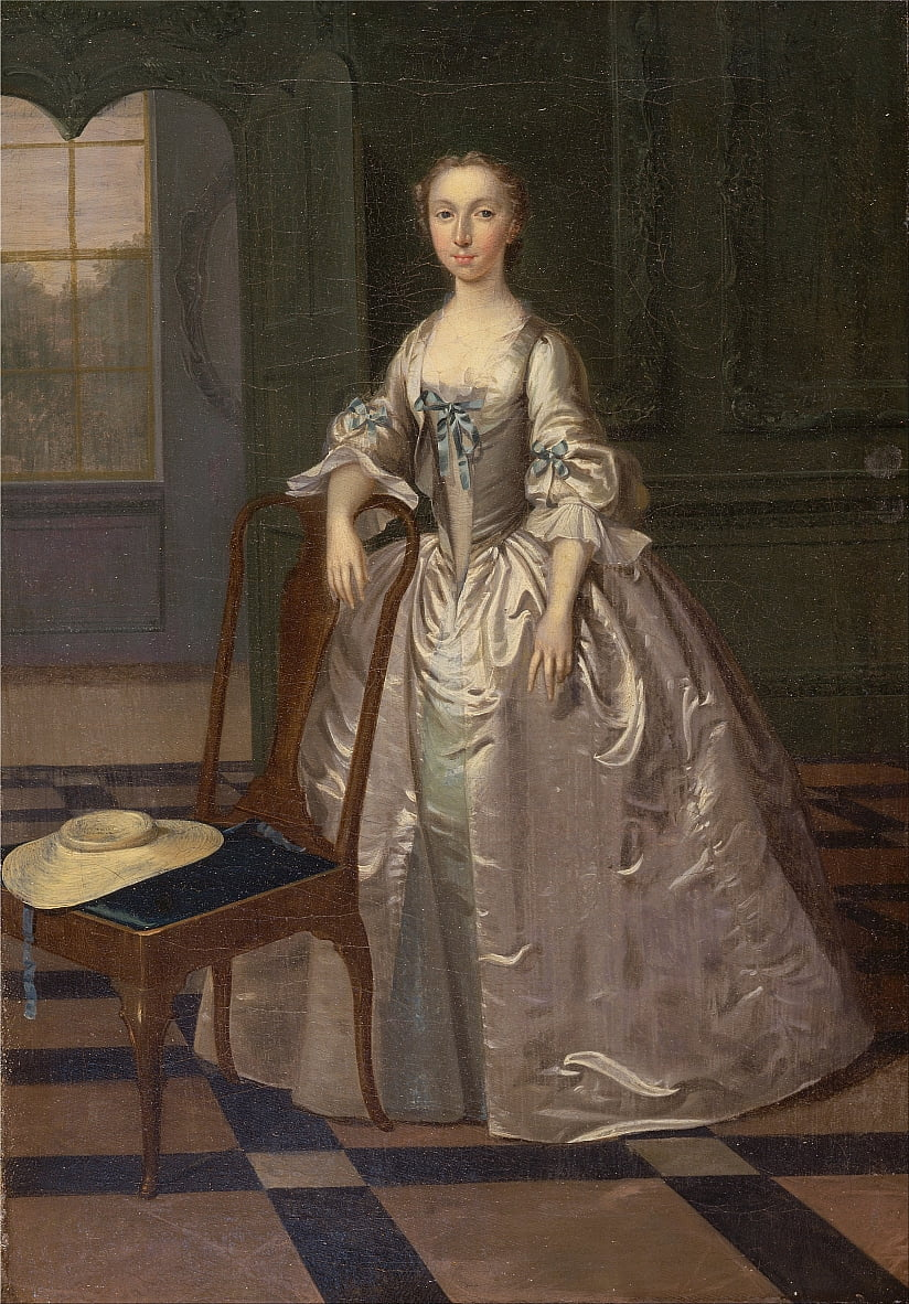 A Lady in a Drawing Room by Arthur Devis