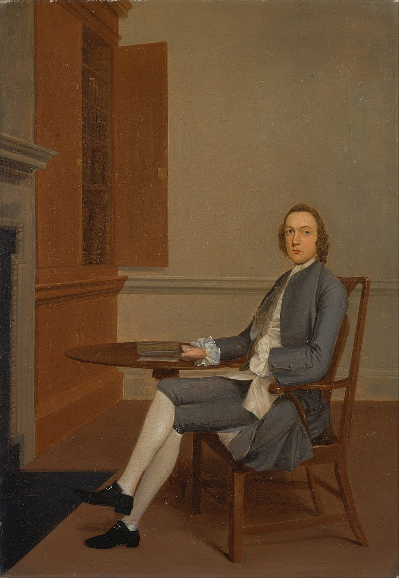 An Unknown Man Seated at a Table by Arthur Devis