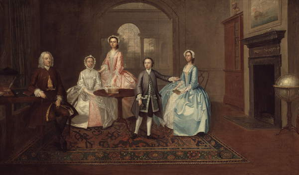 John Thomlinson and His Family, 1745 by Arthur Devis