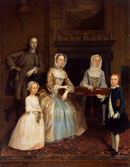 Mr and Mrs Richard Bull and family, 1730-80  by Arthur Devis