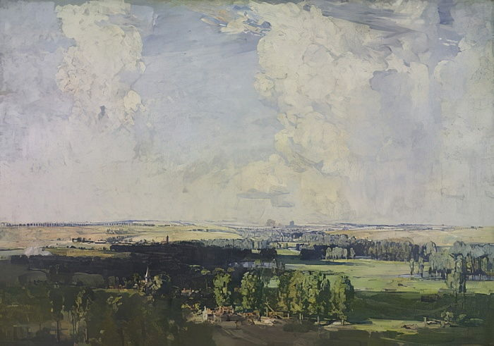 Amiens, the key of the west, 1928  by Arthur Streeton