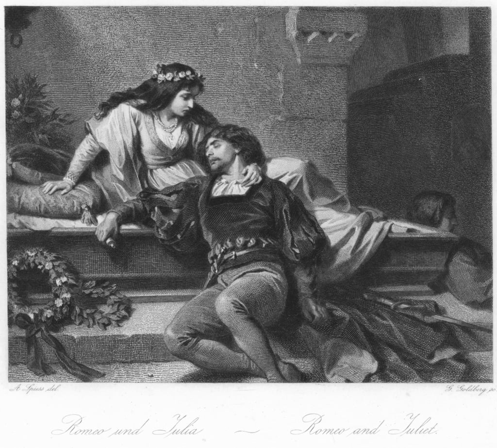 Scene from Romeo and Juliet  by August Spiess