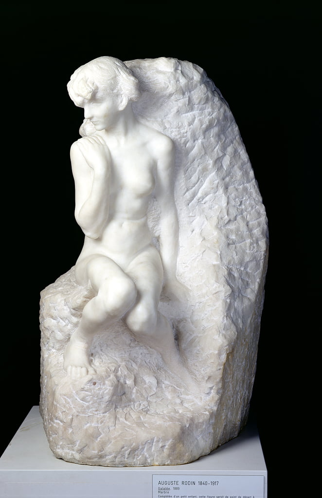 Galatea, 1889 (marble) by Auguste Rodin